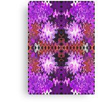 Purple Puffs Abstract Art Canvas Print