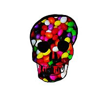 Candy Skull Photographic Print