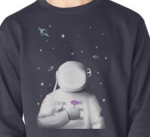 Astronaut holding a flower Pullover