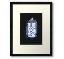 wibbly wobbly timey wimey TARDIS Framed Print