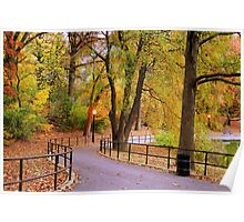 Early fall evening at the park Poster