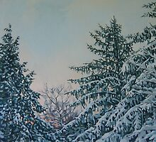 WINTER PINES by Catherine Kuzma