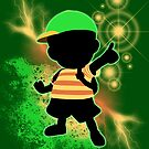 Super Smash Bros. Green Ness Silhouette by jewlecho