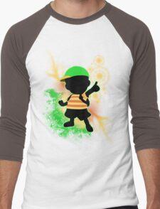 Super Smash Bros. Green Ness Silhouette Men's Baseball ¾ T-Shirt