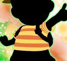 Super Smash Bros. Green Ness Silhouette Sticker