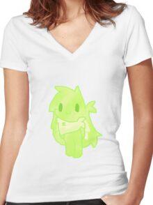 Chibi Spritz Women's Fitted V-Neck T-Shirt