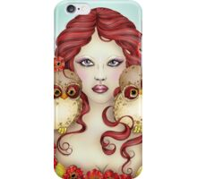 The Guardian - Owl and Maiden Fantasy Art iPhone Case/Skin
