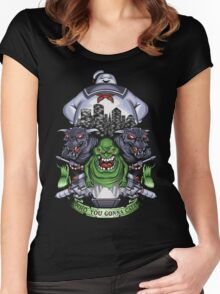 Who You Gonna Call? Women's Fitted Scoop T-Shirt