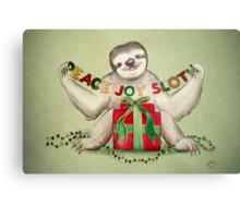 Christmas Sloth Metal Print