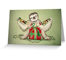 Christmas Sloth Greeting Card