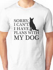 Plans With My Dog, Australian Cattle Dog Unisex T-Shirt