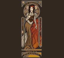 Steampunk Nouveau- Brown Unisex T-Shirt