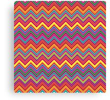 Colourful Chevron Canvas Print