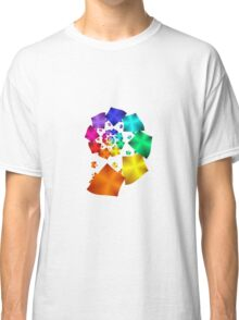 Colorful Geometric Spiral Classic T-Shirt