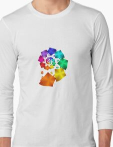 Colorful Geometric Spiral Long Sleeve T-Shirt
