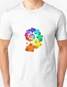 Colorful Geometric Spiral T-Shirt