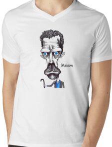 Hugh Laurie Mens V-Neck T-Shirt
