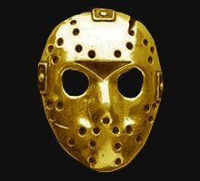 Gold Hockey Mask Unisex T-Shirt
