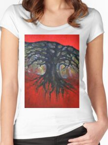 Red Tree Women's Fitted Scoop T-Shirt