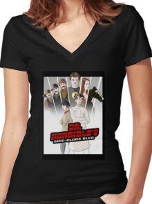 Horrible Vs. The World Women's Fitted V-Neck T-Shirt