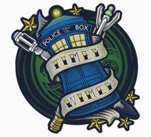 Timey Wimey - Sticker by TrulyEpic