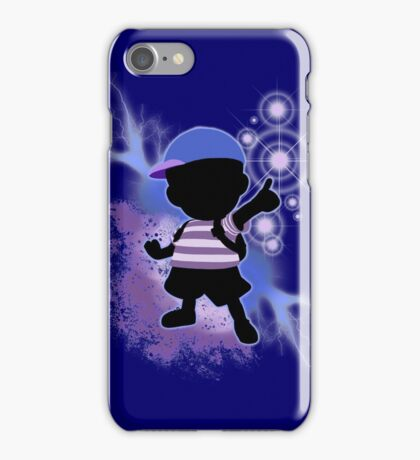 Super Smash Bros. Blue Ness Silhouette iPhone Case/Skin