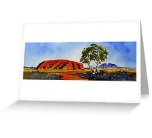 Uluru, Watercolour  Greeting Card