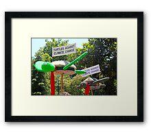 turtles against climate change Framed Print
