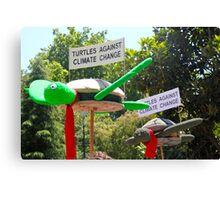 turtles against climate change Canvas Print