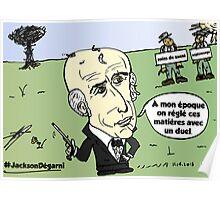 Président Jackson Chauve caricature éditoriale Poster