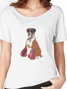 Boxer Dog Women's Relaxed Fit T-Shirt