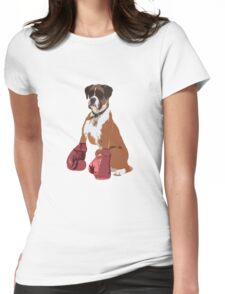 Boxer Dog Womens Fitted T-Shirt