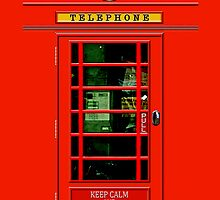 Keep calm and Use the red British public payphone by Johnny Sunardi