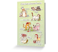 A Cat's Guide to Christmas Presents Greeting Card