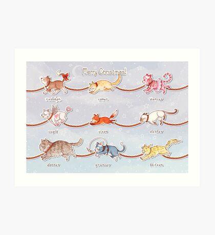 Santa's Little (Kitten) Helpers Art Print