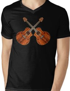 Acoustic Guitars Mens V-Neck T-Shirt