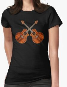 Acoustic Guitars Womens Fitted T-Shirt