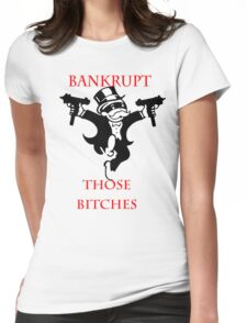 Monopoly Bandit Womens Fitted T-Shirt