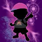Super Smash Bros. Black/Purple Ness Silhouette by jewlecho