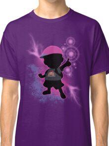 Super Smash Bros. Black/Purple Ness Silhouette Classic T-Shirt