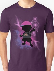 Super Smash Bros. Black/Purple Ness Silhouette Unisex T-Shirt