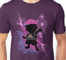 Super Smash Bros. Black/Purple Ness Silhouette Unisex T-Shirt