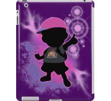 Super Smash Bros. Black/Purple Ness Silhouette iPad Case/Skin