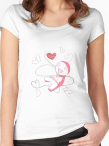 Cry Plays the Heart Women's Fitted Scoop T-Shirt