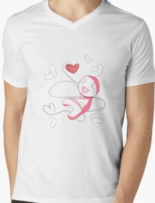 Cry Plays the Heart Mens V-Neck T-Shirt