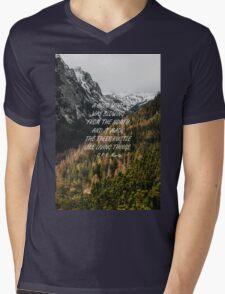 Cold wind Mens V-Neck T-Shirt