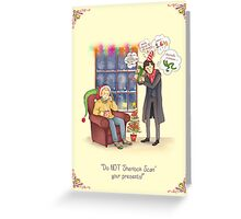 Sherlock's Santa Scan Greeting Card