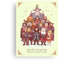 The loudest carollers in Middle Earth Canvas Print