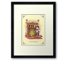 Take the Floo To Santa's Workshop! Framed Print