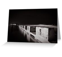 Merewether Baths - B&W Greeting Card